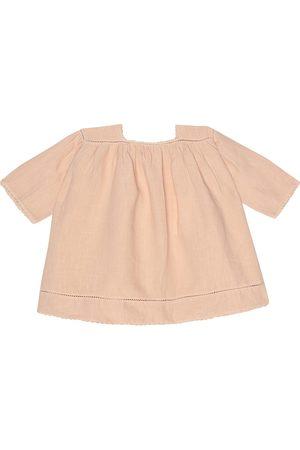 Caramel Baby Wimbledon linen dress