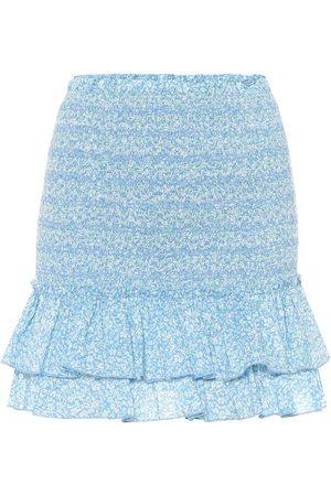 JONATHAN SIMKHAI Floral cotton miniskirt
