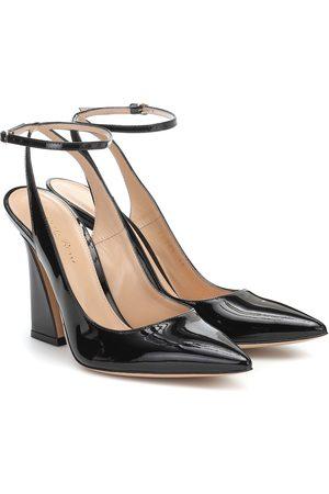 Gianvito Rossi Aura 105 patent leather pumps