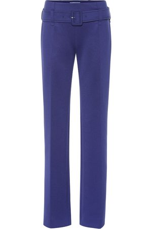 Prada Belted technical jersey pants