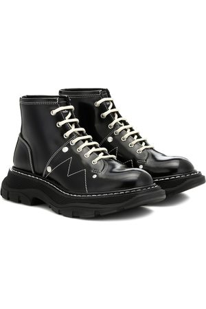 Alexander McQueen Tread patent-leather ankle boots