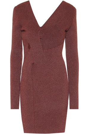Bottega Veneta Ribbed-knit silk-blend minidress