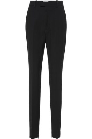 Bottega Veneta High-rise wool-blend slim pants