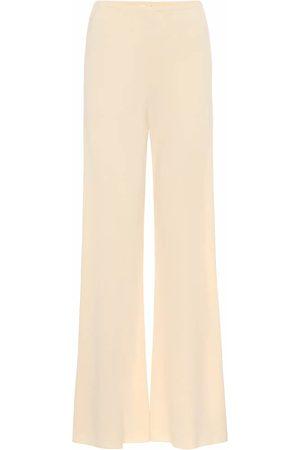 The Row Gala crêpe wide-leg pants