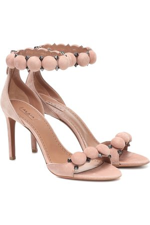 Alaïa Bombe suede sandals