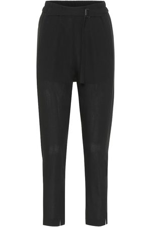 ANN DEMEULEMEESTER High-rise slim wool pants
