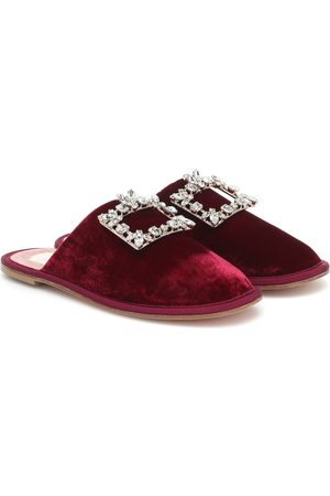 Roger Vivier Hotel Vivier Strass velvet slippers