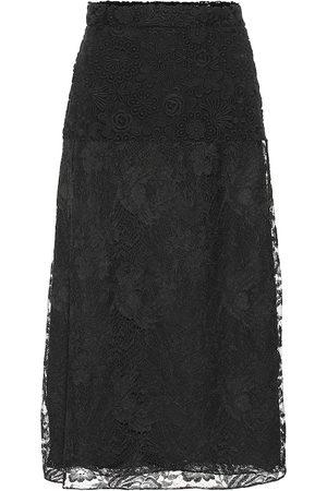 Prada Lace silk midi skirt