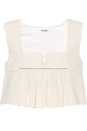 Miu Miu Cotton crop top