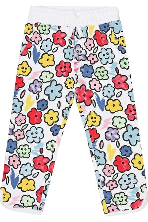 Stella McCartney Smiling Flowers cotton trackpants