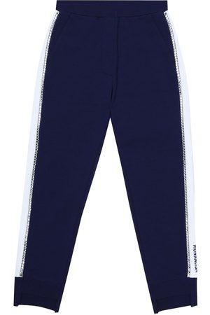 MONNALISA Cotton-blend jersey trackpants