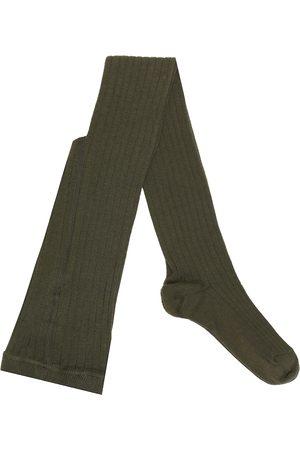 Caramel Child Rib cotton-blend tights