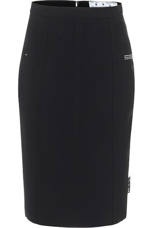 OFF-WHITE Logo-tag pencil skirt