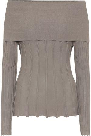 Agnona Off-the-shoulder cotton-blend top