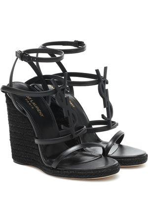 Saint Laurent Cassandra 115 wedge espadrille sandals