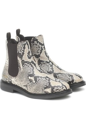 Axel Arigato Snake-effect leather Chelsea boots