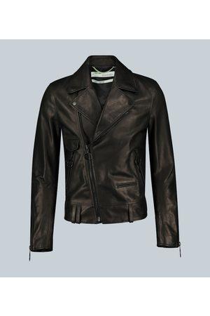 OFF-WHITE Leather biker jacket