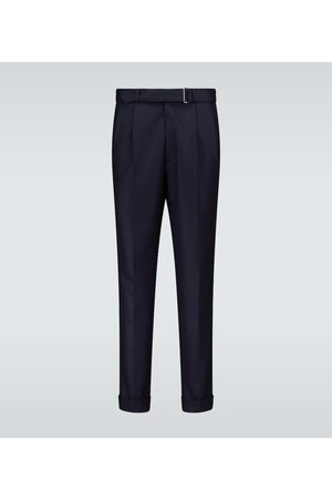 Officine Générale Luigi pleated wool flannel pants