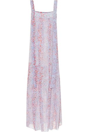 Chloé Printed cotton and silk maxi dress