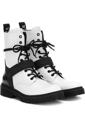 Moncler Calypso leather ankle boots