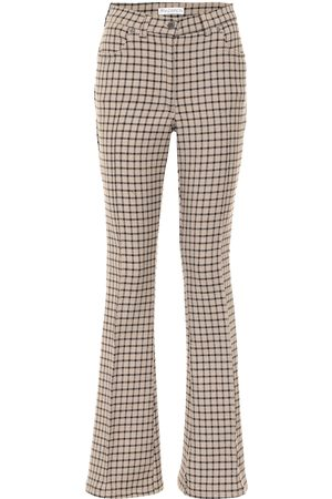 J.W.Anderson Checked high-rise flared pants