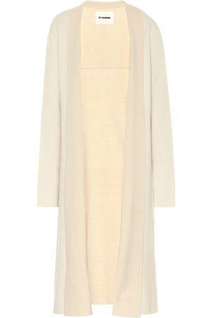 Jil Sander Stretch wool and cashmere longline cardigan
