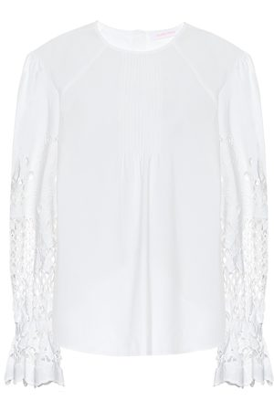 Chloé Embroidered cotton top