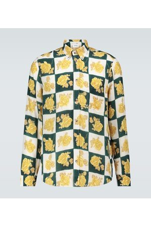 Nanushka Kaleb floral long-sleeved shirt