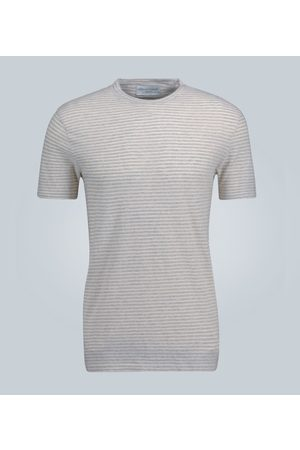 Officine Générale Striped cotton T-shirt