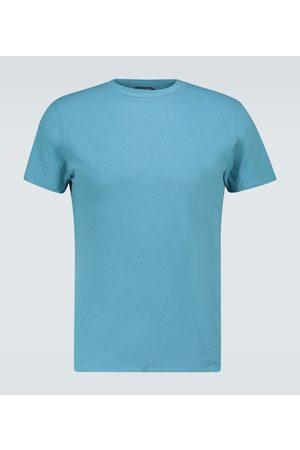 Frescobol Carioca Cotton and linen-blend T-shirt