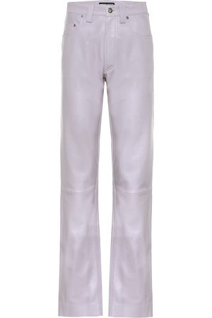 Kwaidan Editions High-rise straight leather jeans