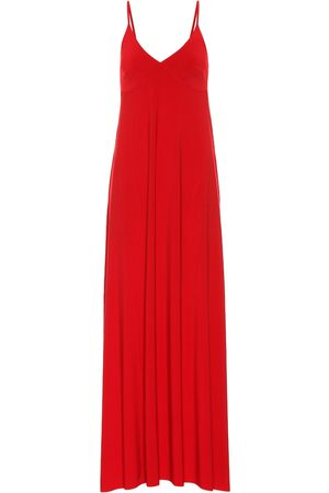 Norma Kamali Stretch-jersey maxi slip dress