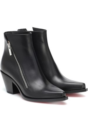 Christian Louboutin Santiazip 65 leather ankle boots