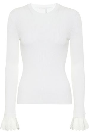 Chloé Lace-trimmed wool sweater
