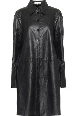 tibi Tissue faux leather shirt dress