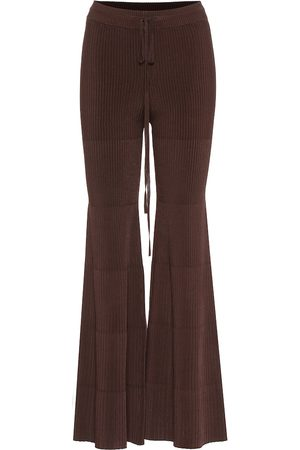 Peter Do Flared ribbed pants