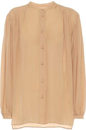 Khaite Denny silk georgette blouse