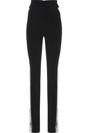 DAVID KOMA Sequined high-rise skinny pants