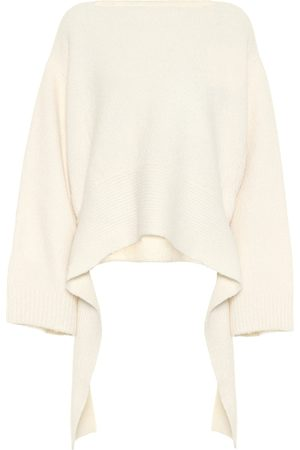 The Row Alyssa cashmere-blend asymmetric sweater