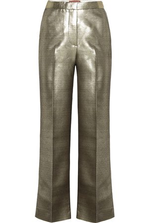 AlexaChung Metallic high-rise straight pants