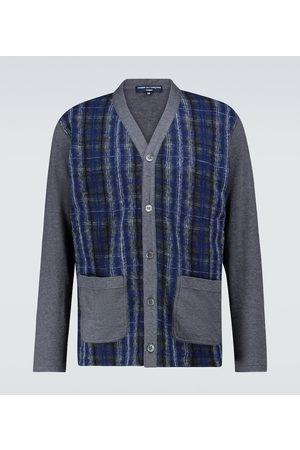 COMME DES GARÇONS HOMME Cotton-blend checked cardigan