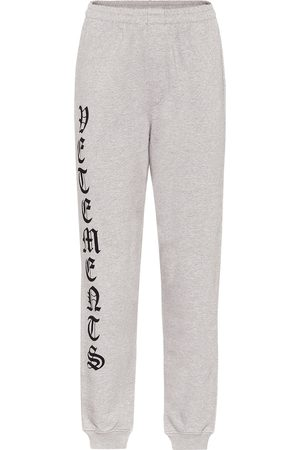 Vetements Logo cotton-jersey trackpants