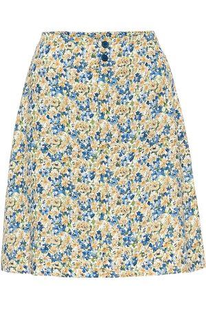 A.P.C Christa floral crêpe de chine skirt