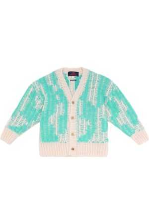 The Animals Observatory Arty Racoon wool-blend cardigan