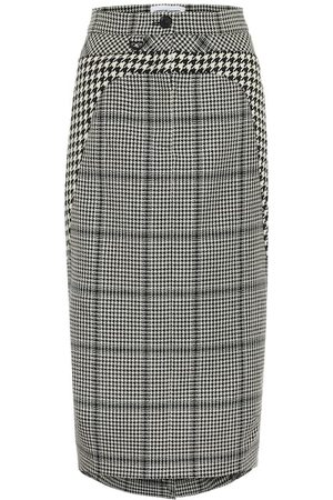 Marine Serre Houndstooth wool pencil skirt