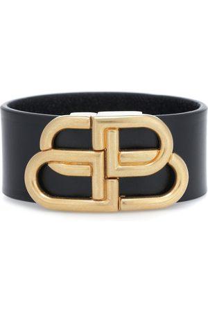 Balenciaga BB leather bracelet