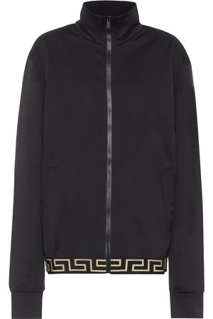 VERSACE Greca cotton-blend jacket