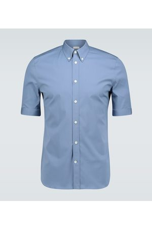 Alexander McQueen American collar short-sleeved shirt