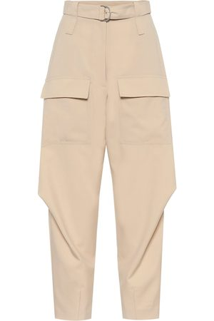 Stella McCartney Adaline wool carrot-leg cargo pants