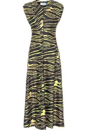 Marine Serre Zebra-print jersey maxi dress